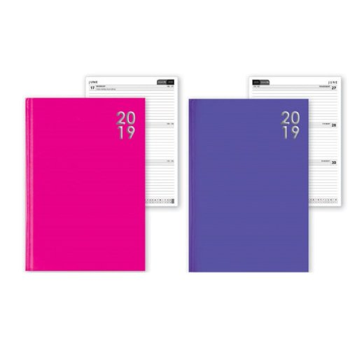 2019 A5 Week To View Diary Home Office Student Work WTV W2V Christmas Gift Hardback