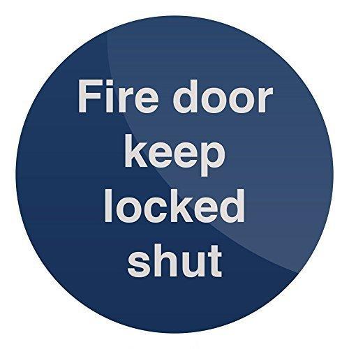 Fixman Fire Door Keep Locked Shut Sign 100 x 100mm Rigid - 100mm Fire Door Keep -  100mm fire door keep locked shut x rigid sign fixman 437046