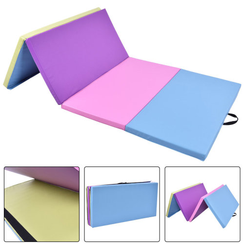 8FT Folding Gymnastics Tumble Floor Mat Yoga Exercise