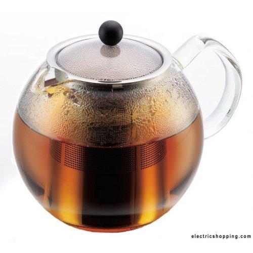 Bodum Assam Glass Tea Press, Stainless Steel Filter 1lt