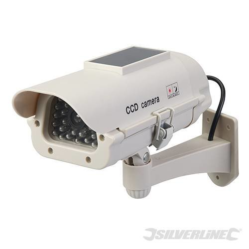 Silverline LED Solar Powered Dummy Cctv Camera