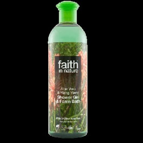 Faith In Nature - Aloe Vera & Ylang Ylang Shower Gel & Foam Bath  400ml