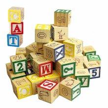 30pc Wooden Alphabet Block Set | Wooden Alphabet Blocks