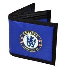 Chelsea Fc Football Crest Nylon Money Wallet, Blue
