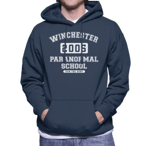Winchester Paranormal School Varsity Text Men's Hooded Sweatshirt