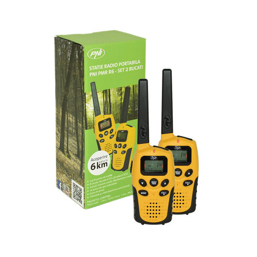 Portable PMR radio PMR R6 set with 2bc without Walkie Talkie charger