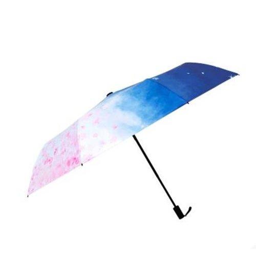 Japanese Style Sunscreen Sun And Rain Umbrella Folding Umbrella, Cherry Blossoms