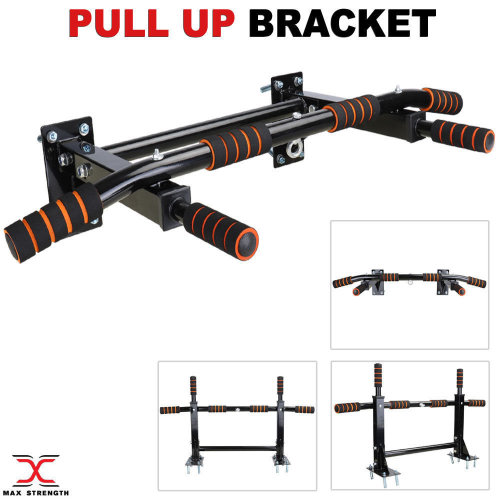 Chin Pull Up Bar Chinning Bracket Home Gym Fitness Exercise Black