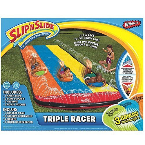 Slip N Slide Triple Racer with Slide Boogie Board