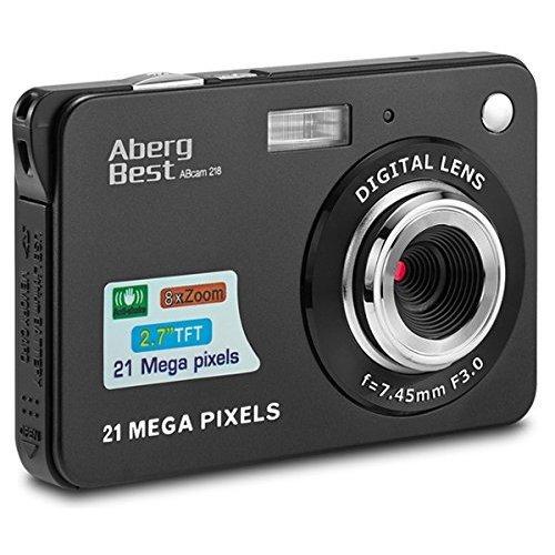 "AbergBest 21 Mega Pixels 2.7"" LCD Rechargeable HD Digital Camera - Digital video camera - Students cameras - Indoor Outdoor for Adult /Seniors /..."
