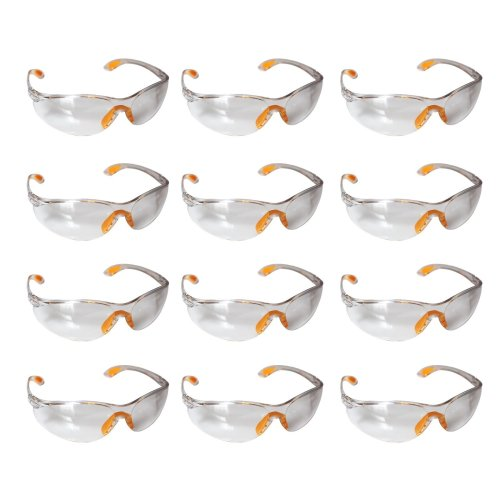 Safety Glasses -12 Piece Pack of Protective Glasses,Safety Goggles Eyewear Eyeglasses for Eye Protection with Clear Plastic Lenses and Featuring...
