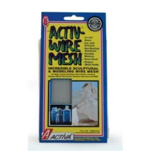 Activa 171 Activa Activ-Wire Mesh Incredible Sculptural & Modeling Aluminum Mesh 12 in. x 10 ft. Sheet, .25 in. x .13 in.