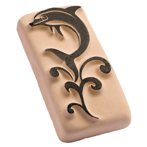 LaDot Temporary Tattoo Stamping Stone, Giant Jumping Dolphin