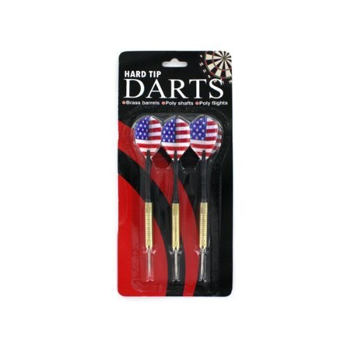 Bulk Buys KB822 24 Hard Tip Darts Strong and Durable Pack of 24