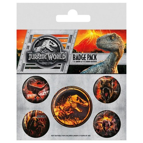 Jurassic World Button Badges 5 Pack