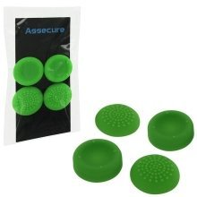 Assecure PS4 Silicone Thumb Grips: Concave and Convex - Green