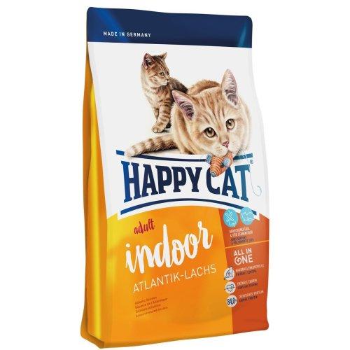 Happy Cat Indoor Adult Salmon Pet Food, 10 kg