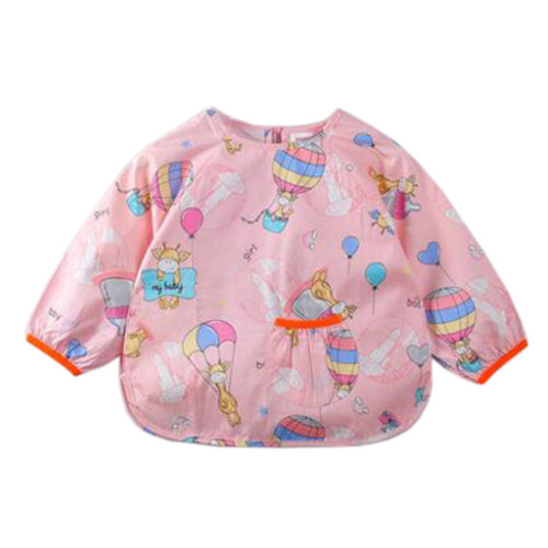 Lovely Baby Bibs Feeding Bib Kid's Apron Overclothes Waterproof Long Sleeves Art Smock NO.04