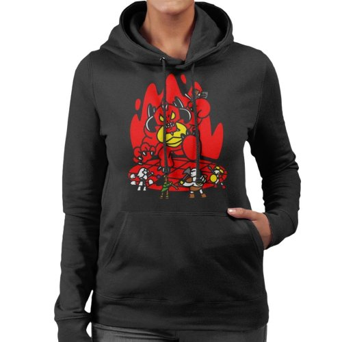 Chibis Battle Diablo Women's Hooded Sweatshirt