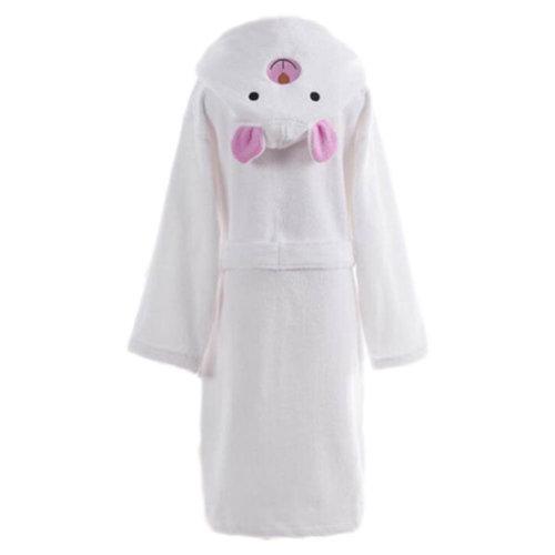 Children Cotton Bathrobe Soft Swim Bath Gown Robes Pajamas with Hat-A03
