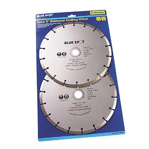 Blue Spot 19549 2 Piece 9 Inch Diamond Cutting Disc Set -  diamond cutting 2 disc 9 inch blue spot 19549 piece set x 230mm angle grinder