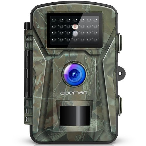[Upgraded]APEMAN Trail Camera 12MP 1080P Wildlife Camera Trap 2.4''LCD