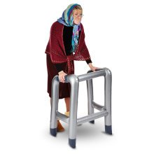 Inflatable Zimmer Frame - Silver Grey Hilarious Novelty Gift Approx 88cm -  inflatable zimmer frame silver grey hilarious novelty gift approx 88cm