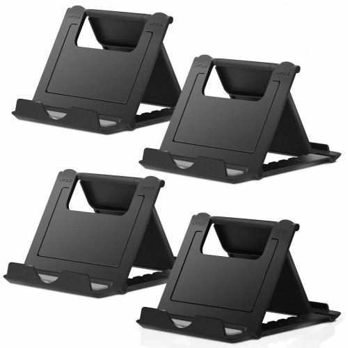 Cell Phone Stand, 4 Pack Phone Stand, Universal Foldable Tablet Stand Multi-angle Pocket Desktop Holder Cradle Compatible iPhone X/8/7...