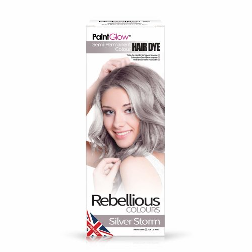 Paintglow Semi-Permanent Hair Dye, Silver Storm, 70 ml