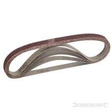Silverline Sanding Belts 13 x 457mm 5pk 40 Grit -  x sanding belts 13 silverline grit 457mm 40 950457 5pk power fit 13mm