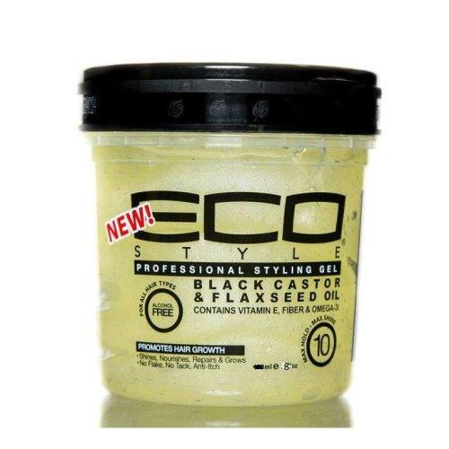 Eco Style Black Castor & Flaxseed Gel 8oz