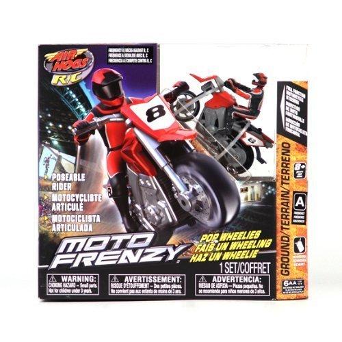 Air Hogs R/C Moto Frenzy Red Motorcycle Pop Wheelies A