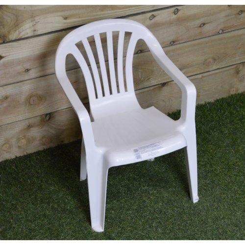 Peachy Childrens Kids Traditional Plastic Garden Patio Chair In White Onthecornerstone Fun Painted Chair Ideas Images Onthecornerstoneorg