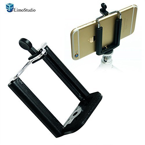 LimoStudio 2PC Monopod Tripod Mount Clip Cell Phone Holder for iPhone 6 5S 5C 5 4S 4 Samsung Galaxy S4 S3 AGG1462
