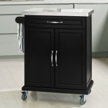 SoBuy® FKW13-SCH, Kitchen Cabinet Kitchen Storage Trolley, Black