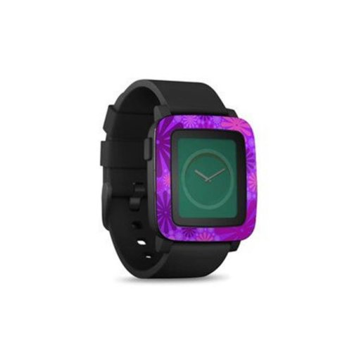 DecalGirl PSWT-PUNCH-PRP Pebble Time Smart Watch Skin - Purple Punch