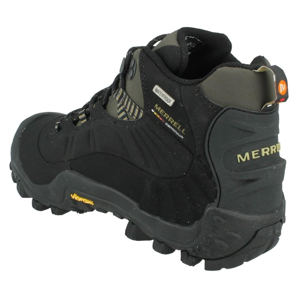 fda7ceecd3a Mens Merrell Walking Boots Chameleon Thermo 6 WP - Black/Charcoal Synthetic  - UK Size 9.5 - EU Size 44 - US Size 10
