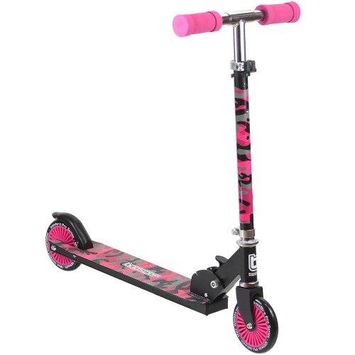 bopster 2 Wheeled Folding Children's Kick Scooter – Pink Camo