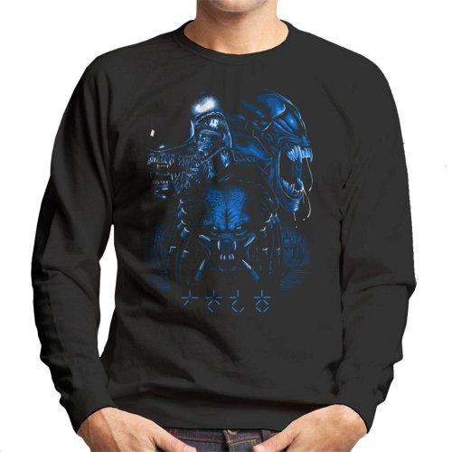 Alien Queen Predator Collage Men's Sweatshirt