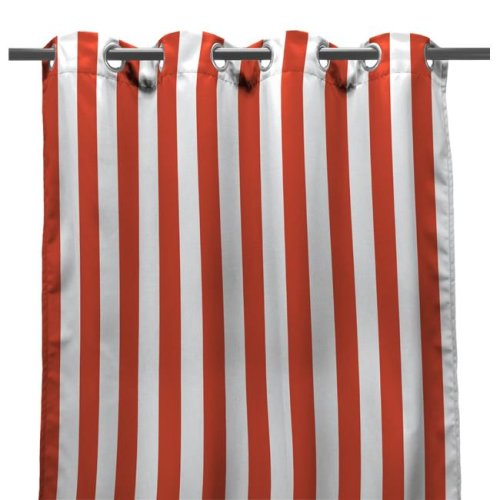 Jordan 3VOC5496-4334Q 54 x 96 in. Outdoor Curtain Panel in Melon Stripe