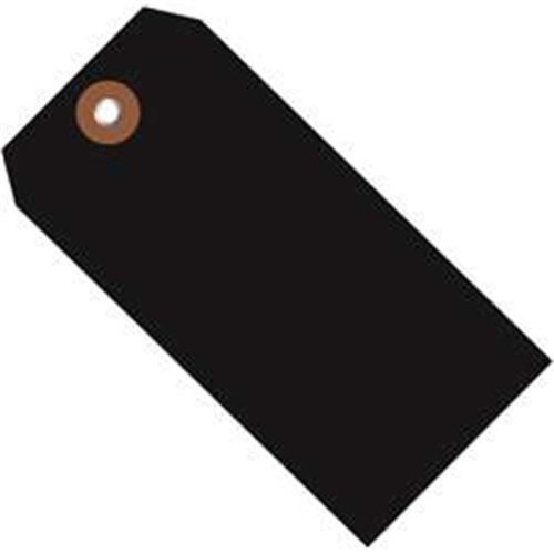 Box Partners G26051 4.75 x 2.38 in. Black Plastic Shipping Tags - Pack of 100