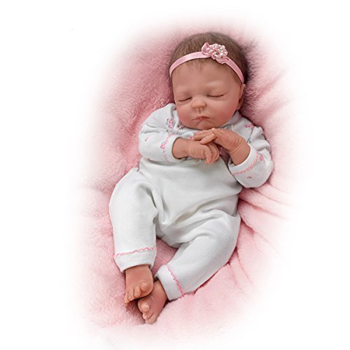 Cuddle Caitlyn With Warming Feature and Blanket - So Truly Real Lifelike &amp Realistic Newborn Baby Doll 17-inches  by The Ashton-Drake Galleries