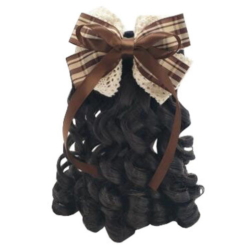 Children Girls Long Curly Wigs Hair Extensions Hair Clip Kids Wig Hairpiece, A