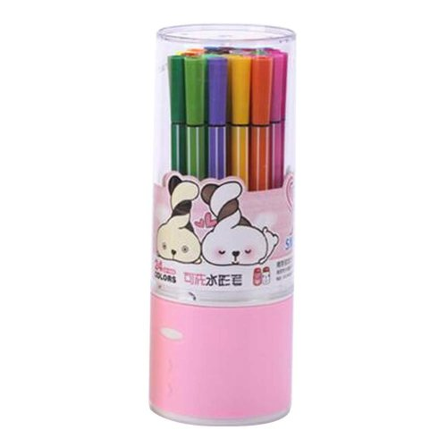[I] 24 Colors Watercolor Drawing Pens Colored Marker Pens Set for Children