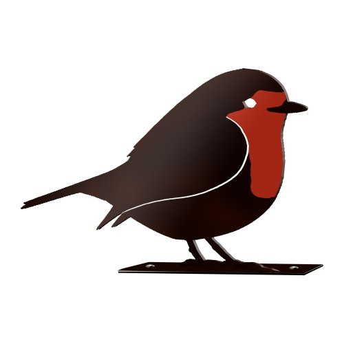 Robin Garden Silhouette with Fixing Plate
