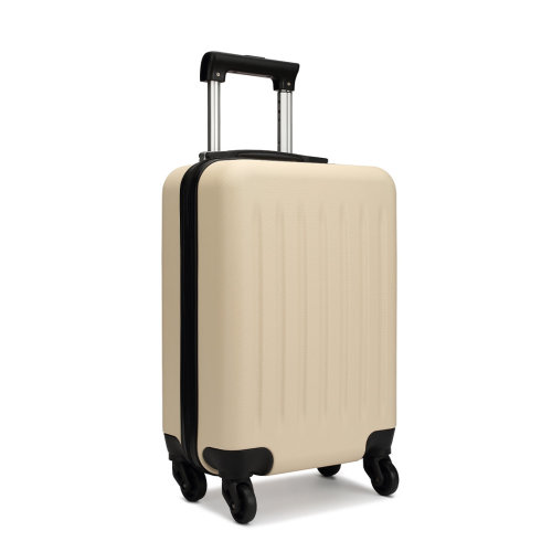 KONO Ryanair Easyjet Cabin Approved Luggage Suitcase Beige