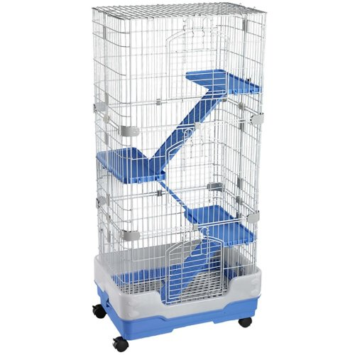 Chinchilla, Rodent Cage Four Tier On Wheels Blue