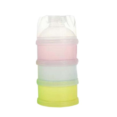 Useful Outdoor Kids Milk Powder Container Portable 3 Layers Baby Food Container