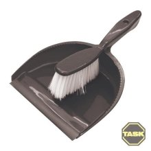Task Dustpan & Brush Set Display Box Pack Of 24 - 902240 Small Handy 175mm -  brush set task dustpan 902240 display box small handy 175mm cleaning