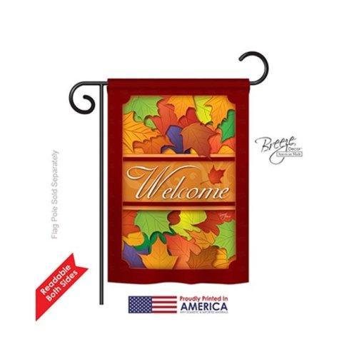 Breeze Decor 63035 Harvest & Autumn Autumn 2-Sided Impression Garden Flag - 13 x 18.5 in.